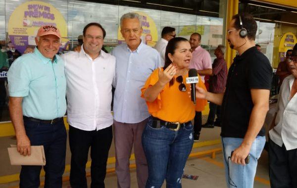 Vitório FM Presente na inauguração do novo Supermercado Unicompra de Palmeira dos Índios