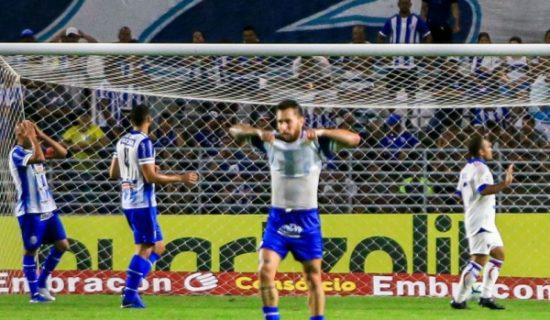 CSA joga mal, sofre dois gols no 1º tempo e perde para o Fortaleza por 2 a 0