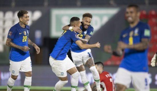Brasil vence o Paraguai em Assunção e segue 100% nas Eliminatórias