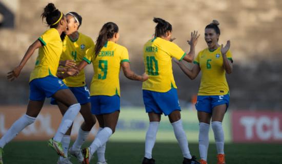 Seleção Brasileira de futebol feminino massacra Argentina por 4 a 1 em amistoso na Paraíba