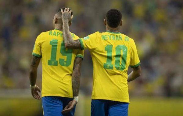 Neymar e Raphinha brilham em vitória do Brasil; veja números da dupla